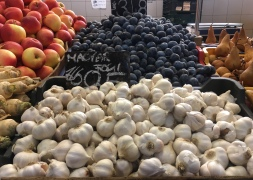 garlic and fruit at The Great Market