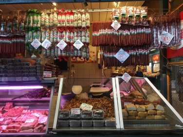 salamis and meats at The Great Market