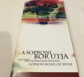 Brochure for the Sopron Road of Wine