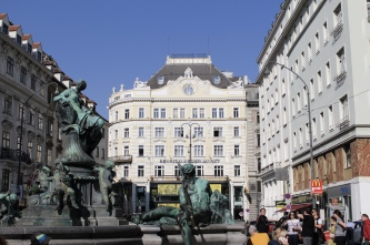 four rivers fountain at Neuer Markt