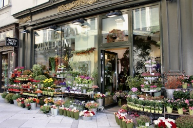 flower shop behind St. Stephen's Cathedral