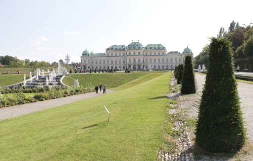 the grounds of Schloss Belvedere