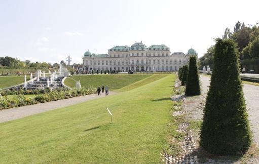 the grounds of Schloss Belvedere
