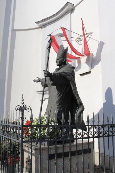 statue near the tram stop