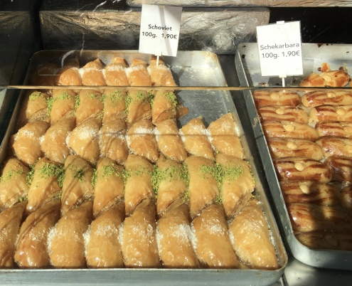 baklava at Naschmarkt