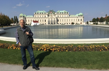 Mike at Schloss Belvedere