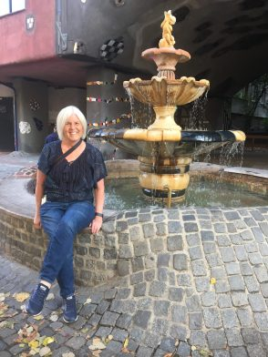 me at Hundertwasserhaus
