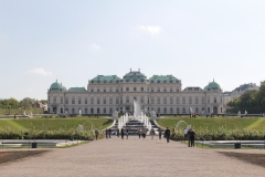 looking up to the Upper Palace
