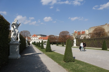 walking to the Lower Palace