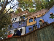 Mike at Hundertwasserhaus