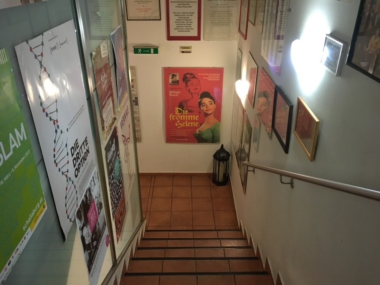 staircase to restrooms in Fromme Helene