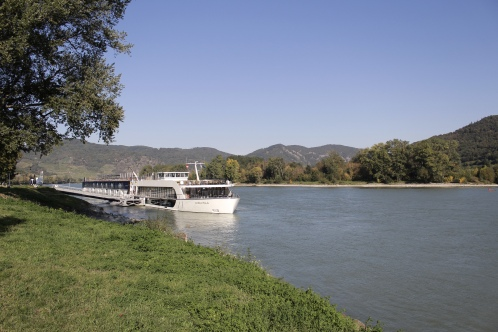 the Danube and cruise boat