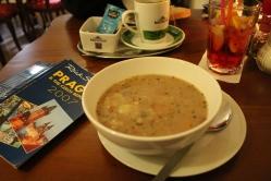 bean & sausage soup