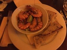 Shrimp at Restaurant Terasa