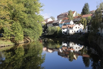 reflections in the the Vltava