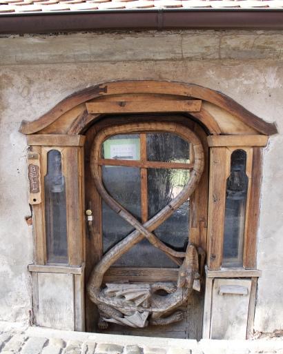 door detail in Český Krumlov