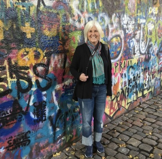 me at The John Lennon Wall