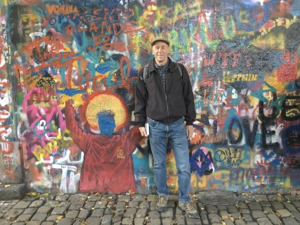Mike at The John Lennon Wall