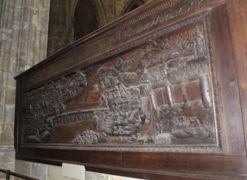 17th century relief carving of Prague