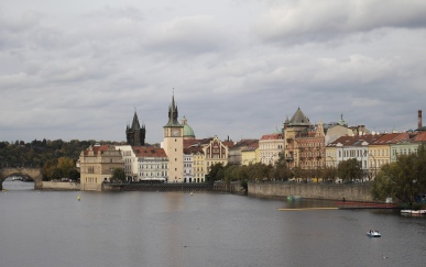 view of the Vltava River