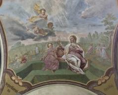 frescos at the Loreta