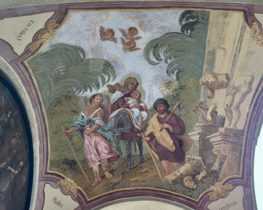 frescos at the Loreta