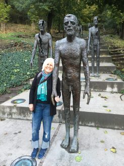 me with Memorial to the Victims of Communism