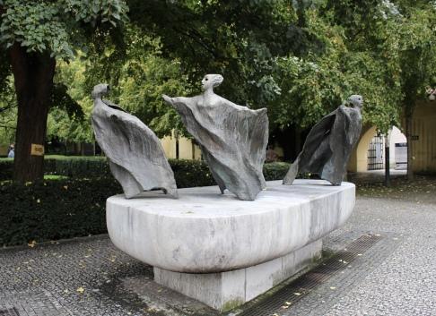 statue in Franciscan garden