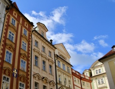 Prague streets and buildings