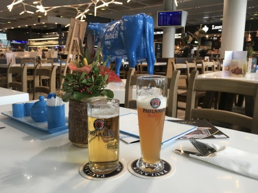 beers at Frankfurt Airport