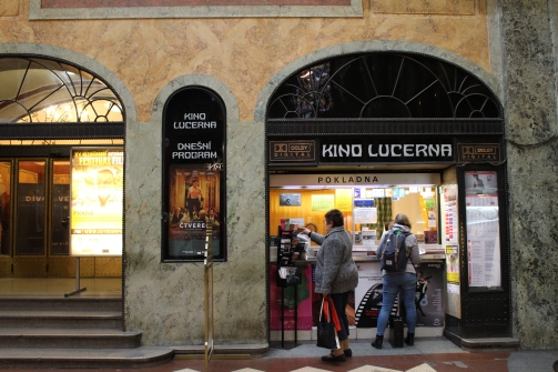 Prague cinema in Lucerna Arcade