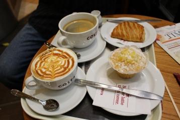 a coffee break at Lucerna Arcade